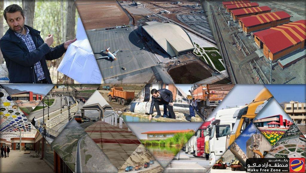 کارنامه ای با بیش از ۵۰ پروژه عمرانی بزرگ در منطقه آزاد ماکو